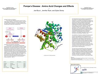Pompe's Disease : Amino Acid Changes and Effects