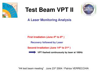 Test Beam VPT II