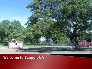 Welcome to Bangor, CA