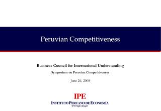 Peruvian Competitiveness