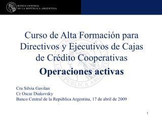 Curso de Alta Formación para Directivos y Ejecutivos de Cajas de Crédito Cooperativas