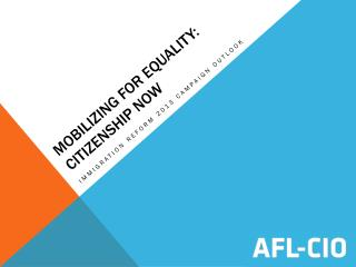 Mobilizing for equality: citizenship now