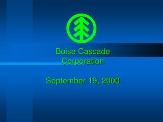Boise Cascade Corporation September 19, 2000