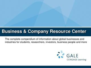 Business & Company Resource Center