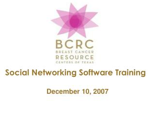 Social Networking Software Training