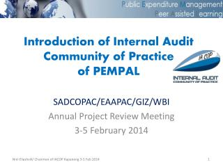 Introduction of Internal Audit Community of Practice of PEMPAL