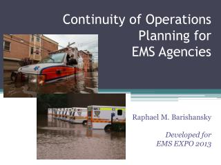 Continuity of Operations Planning for  EMS Agencies