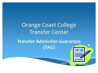 Orange Coast College Transfer Center