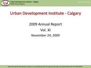 Urban Development Institute - Calgary