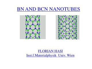 BN AND BCN NANOTUBES