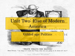 Unit Two: Rise of Modern America