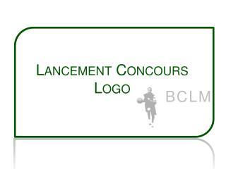 Lancement  Concours Logo