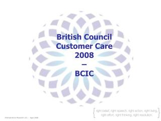 British Council  Customer Care  2008 –  BCIC