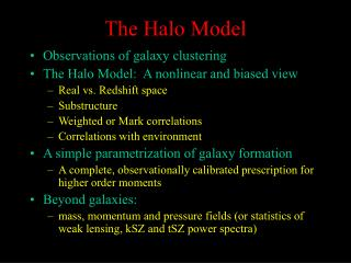 The Halo Model