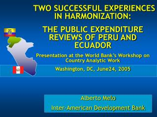 Alberto Melo Inter-American Development Bank