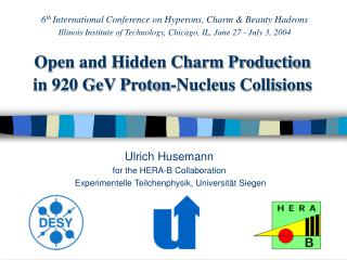 Open and Hidden Charm Production in 920 GeV Proton-Nucleus Collisions