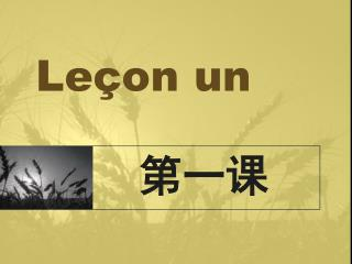 Le�on un