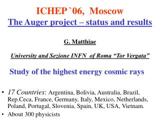 Study of the highest energy cosmic rays