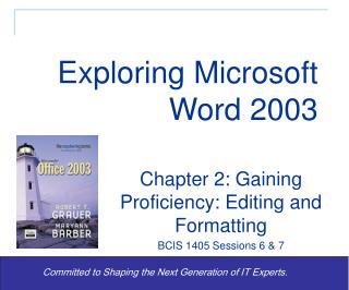 Exploring Microsoft Word 2003