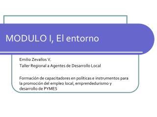 MODULO I, El entorno