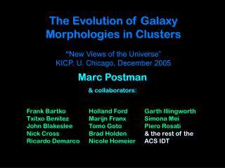 Marc Postman & collaborators: