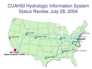 CUAHSI Hydrologic Information System Status Review, July 28, 2004