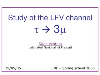 Study of the LFV channel t    3 m