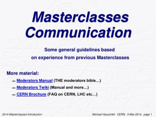 Masterclasses Communication