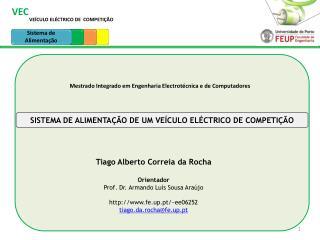 VEÍCULO ELÉCTRICO DE  COMPETIÇÃO