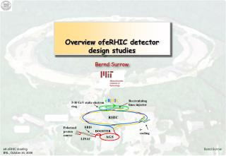 Overview ofeRHIC detector design studies
