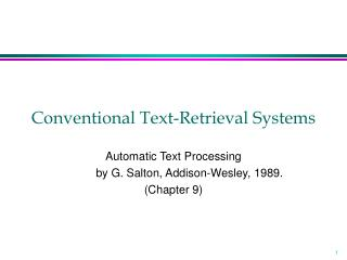 Conventional Text-Retrieval Systems