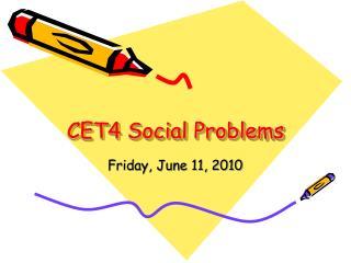 CET4 Social Problems