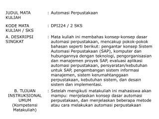 Pengantar  Konsep Sistem Automasi Perpustakaan (SAP)