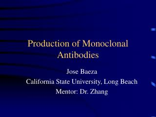 Production of Monoclonal Antibodies