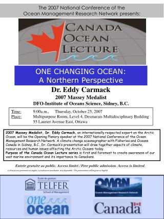 The 2007 National Conference of the  Ocean Management Research Network presents: