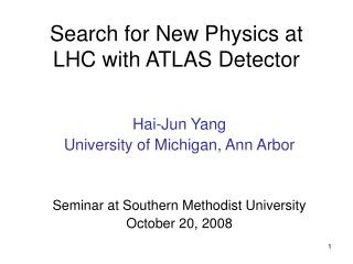 Search for New Physics at LHC with ATLAS Detector