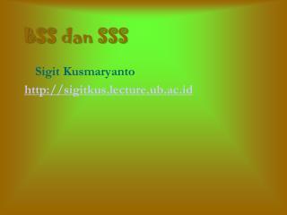 BSS dan SSS