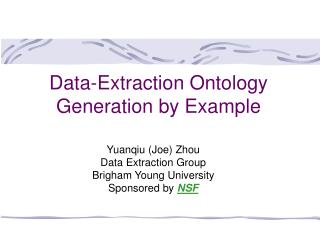 Data-Extraction Ontology Generation by Example