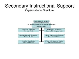 Secondary Instructional Support Organizational Structure
