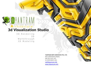 3D Architectural visualization design with outsourcing compa