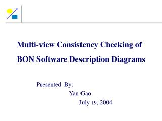 Multi-view Consistency Checking of  BON Software Description Diagrams
