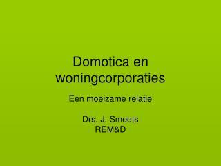 Domotica en woningcorporaties