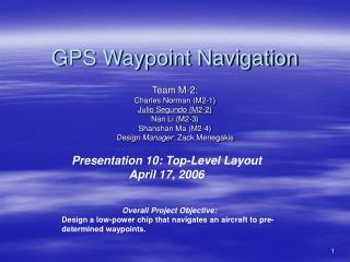 GPS Waypoint Navigation