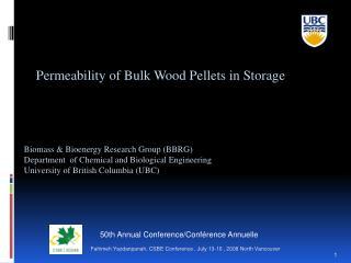 Permeability of Bulk Wood Pellets in Storage