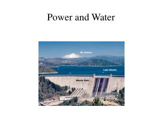 Power and Water