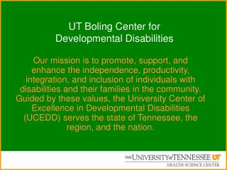 UT Boling Center for  Developmental Disabilities