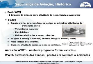 Segurança de Aviação, Histórico