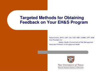 Targeted Methods for Obtaining Feedback on Your EH&S Program