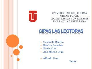 UNIVERSIDAD DEL TOLIMA  CREAD TUNAL  LIC. EN BASICA CON ENFASIS EN LENGUA CASTELLANA