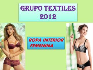GRUPO TEXTILES 2012